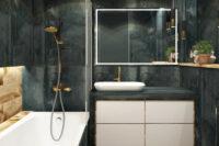Sanistunter - blauwe badkamer
