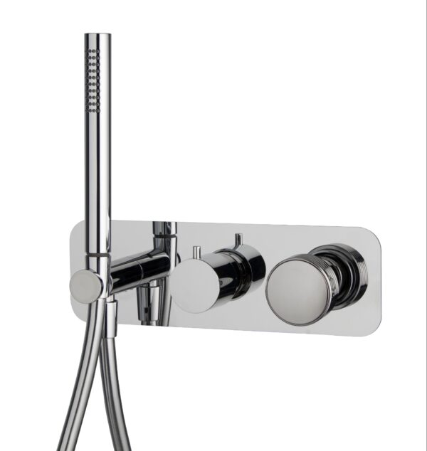 Sanistunter - Fima serie Texture Collection inbouw douchekraan met handdouche chroom