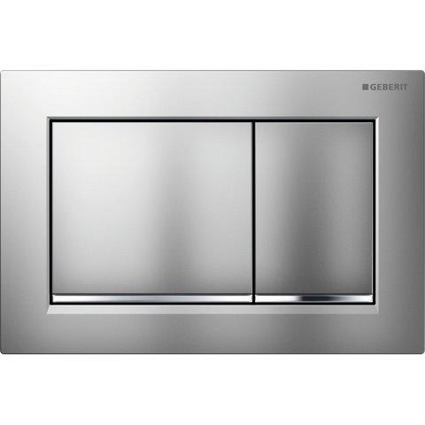 Sanistunter - Geberit Omega 30 bedieningsplaat 2-knops front/planchetbediening matchroom-chroom-matchr.